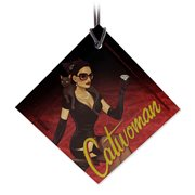 DC Bombshells Catwoman StarFire Prints Hanging Glass Ornament