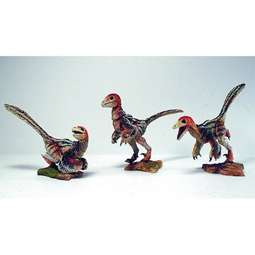 Beasts of Mesozoic Raptor Series Grey Nestlings 1:6 Action Figure Set