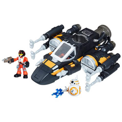 Star Wars Galactic Heroes Poe's Boosted X-Wing Fighter Vehicle