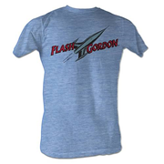 Flash Gordon Comic Logo Light Blue T-Shirt