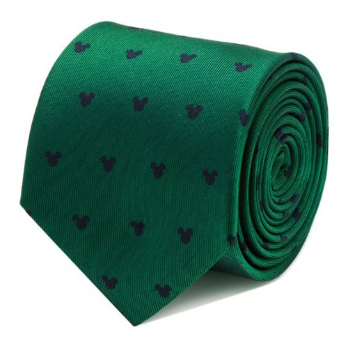 Mickey Mouse Green Tie