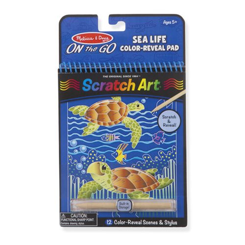 Melissa & Doug Fairy Tales Sea Life Scratch Art Color Reveal Pad