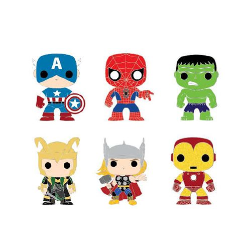 Marvel Pop! Loungefly Classic Marvel Blind-Box Pin 12pc Tray