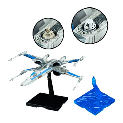 Star Wars: The Last Jedi Blue Squadron Resistance X-Wing Fighter 1:72 Scale Plastic Model Kit