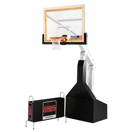 NBA Motion Masterpiece Basketball Hoop and Rack 1:9 Scale Replica