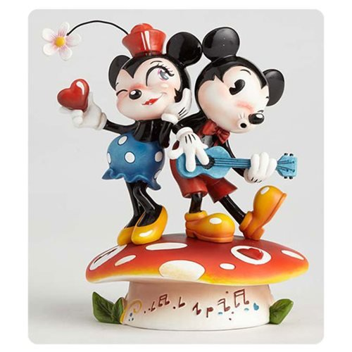 Disney The World of Miss Mindy Mickey Mouse and Minnie Mouse Statue