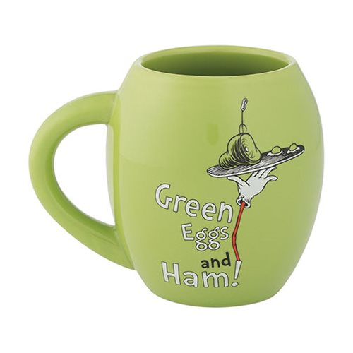 Dr. Seuss Green Eggs and Ham 18 oz. Oval Ceramic Mug