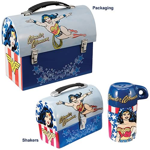 Wonder Woman Lunch Box Salt and Pepper Shakers