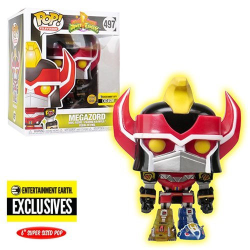 Power Rangers Megazord Glow-in-the-Dark 6-Inch Pop! Vinyl Figure - Entertainment Earth Exclusive