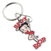 Betty Boop Chain Link Enamel Key Chain