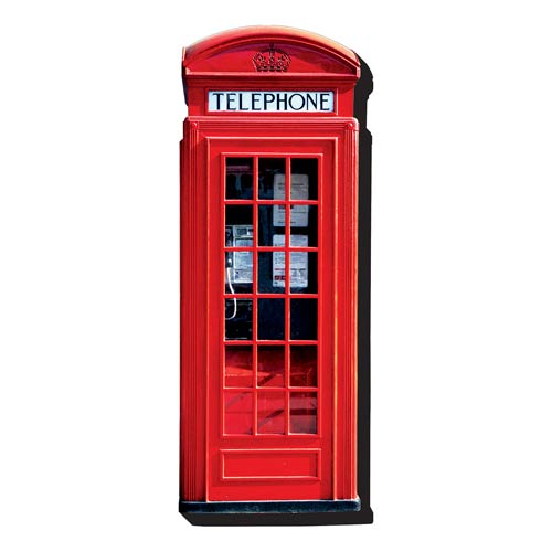 London Telephone Booth Funky Chunky Magnet