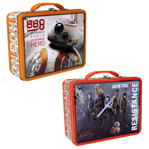 Star Wars: The Last Jedi Embossed Large Tin Tote Lunch Box Set