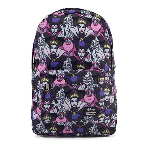 Disney Villains Print Nylon Backpack