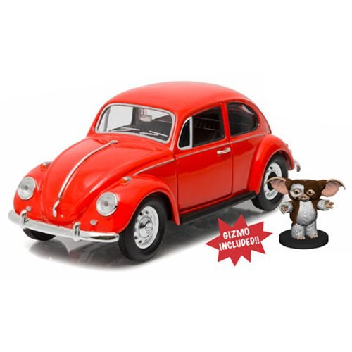 Gremlins 1967 Volkswagen Beetle with Gizmo Figure 1:24 Scale Die-Cast Metal Vehicle