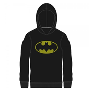 Batman Logo Black Hooded Long Sleeve