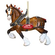 Budweiser Clydesdale Horse 4 3/4-Inch Resin Ornament