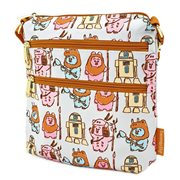 Star Wars Ewoks Pastel Print Nylon Crossbody Purse