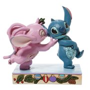 Disney Traditions Angel and Stitch Mistletoe Kisses by Jim Shore Statue
