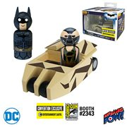 Batmobile Tumbler Camouflage with The Dark Knight Batman and Bane Pin Mate Wooden Figure Set - Convention Exclusive