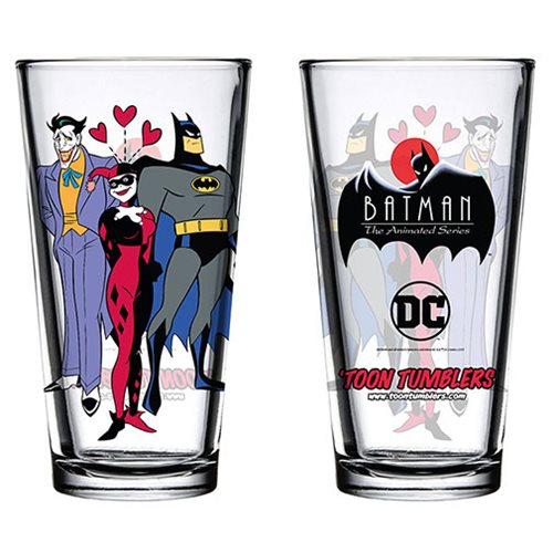 Batman: The Animated Series Mad Love Toon Tumbler Pint Glass