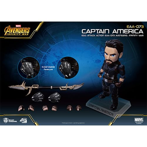 Avengers Infinity War EAA-073 Captain America 50 Action Figure - Previews Exclusive