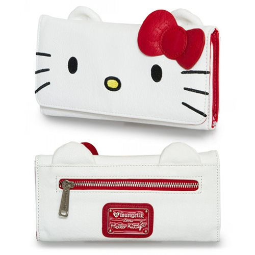 Hello Kitty Big Face Flap Wallet
