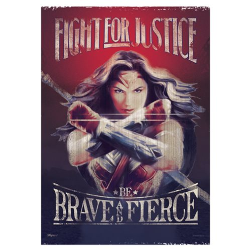Wonder Woman Fight For Justice MightyPrint Wall Art Print