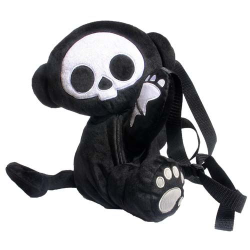 Skelanimals Marcy (Monkey) 12-Inch Deluxe Backpack Plush