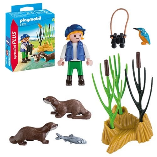 Playmobil 5376 Special Plus Young Explorer with Otters Action Figure