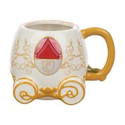 Cinderella Pumpkin Sculpted Ceramic Mug