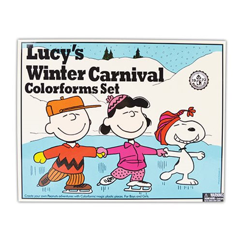 Colorforms Lucy's Winter Carnival Retro Set