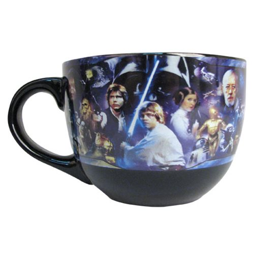 Star Wars Collage 24 oz. Ceramic Soup Mug