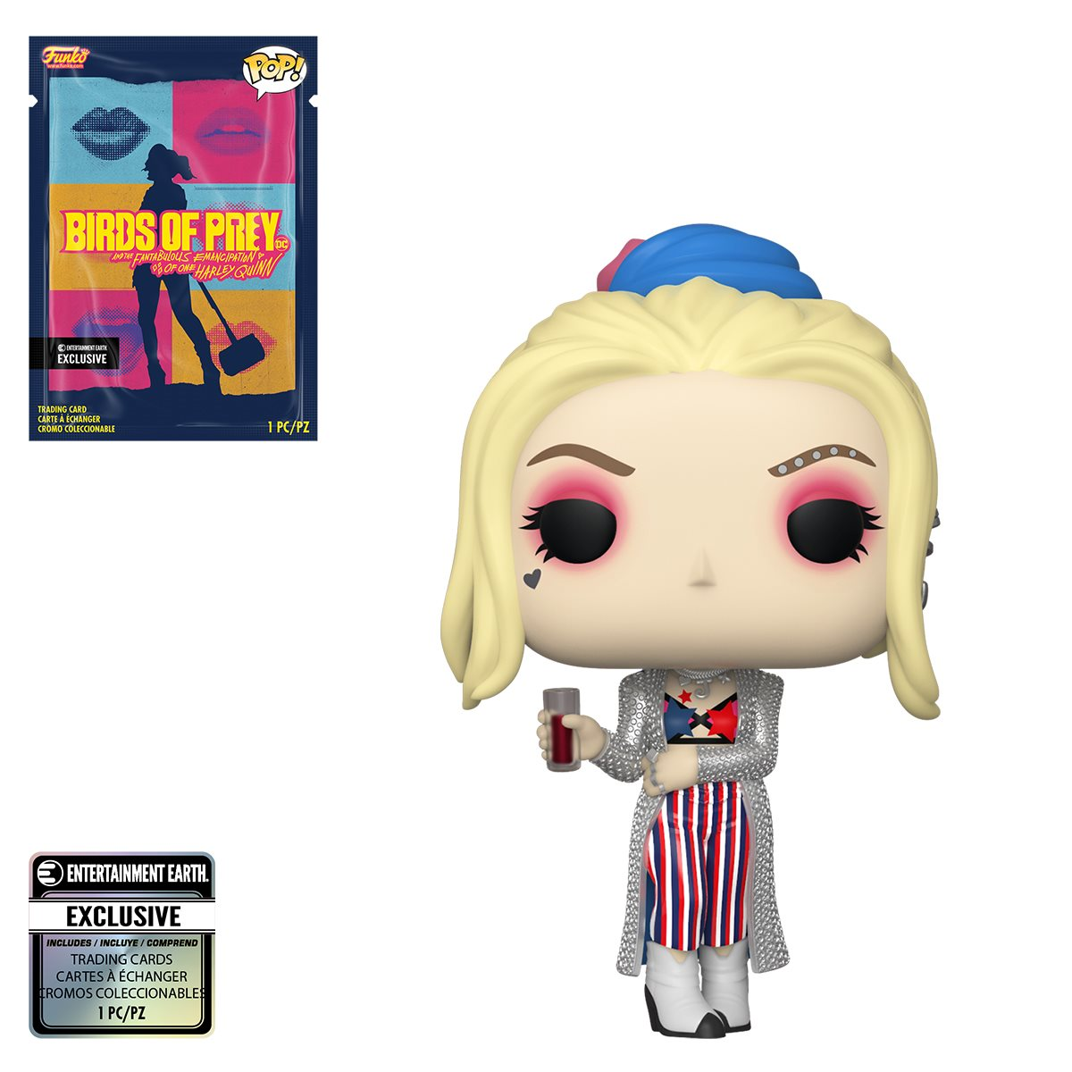 Birds Of Prey Harley Quinn Black Mask Club Pop Vinyl Figure With Collectible Card Entertainment Earth Exclusive Entertainment Earth