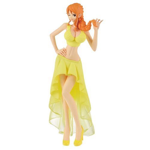 One Piece Nami Yellow Wedding Version Lady Edge Statue