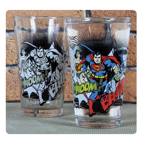 DC Comics Cold-Activated Color-Change Pint Glass