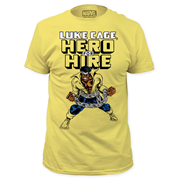 Luke Cage Hero For Hire Yellow T-Shirt