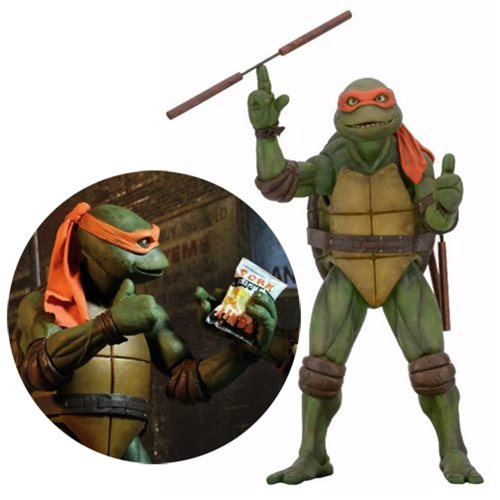 Teenage Mutant Ninja Turtles Movie Michelangelo 1:4 Scale Action Figure