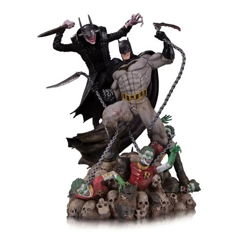 Batman Who Laughs vs. Batman Battle 1:8 Scale Statue