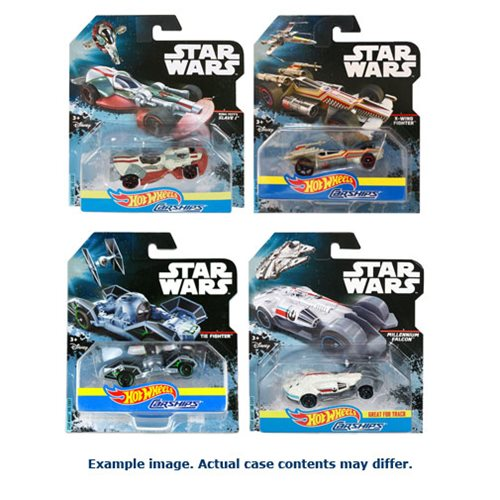 Star Wars Hot Wheels Carships Mix 1 Case