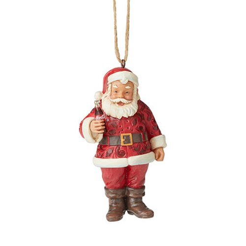 Santa with Coca-Cola by Jim Shore Ornament