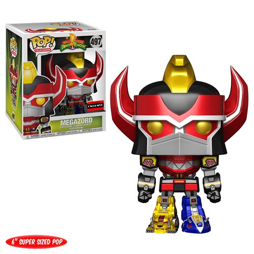 Mighty Morphin Power Rangers Metallic Megazord 6-Inch Super Pop! Vinyl Figure - AAA Anime Exclusive, Not Mint