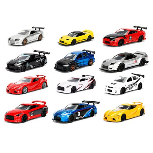 JDM Tuners 1:64 Scale Die-Cast Vehicles Wave 1 Set