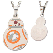 Star Wars: Episode VII - The Force Awakens BB-8 Cutout Stainless Steel Pendant Necklace