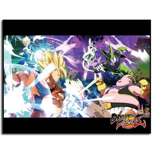 Dragon Ball Fighterz Key Art Sublimination Throw Blanket