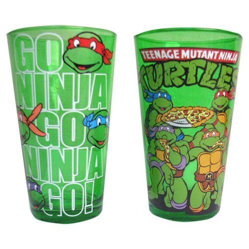 Teenage Mutant Ninja Turtles Green 16 oz. Pint Glass 2-Pack