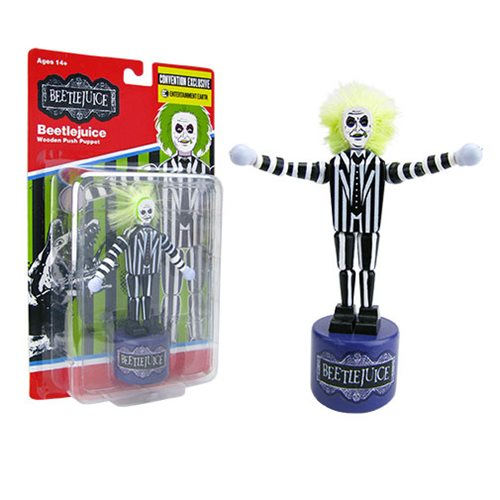 Beetlejuice Wooden Push Puppet - Convention Exclusive