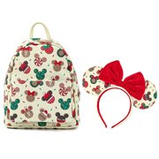 Mickey and Minnie Christmas Cookies Mini-Backpack with Matching Ears Headband