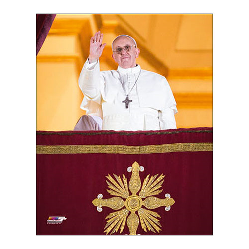 Pope Francis Waving Small Commemorative Photo