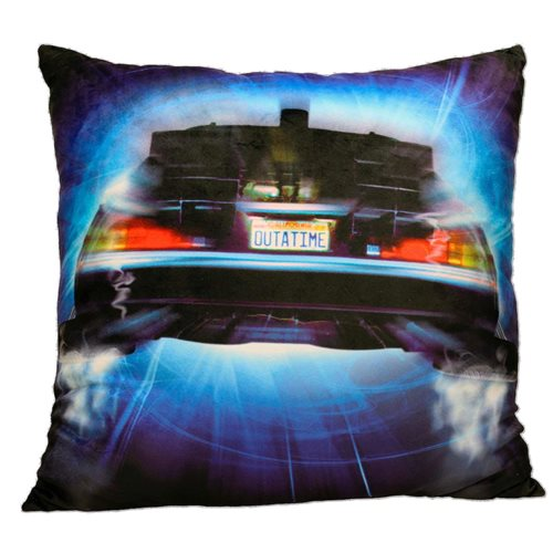 Back to the Future Time Machine Roads Square Cushion