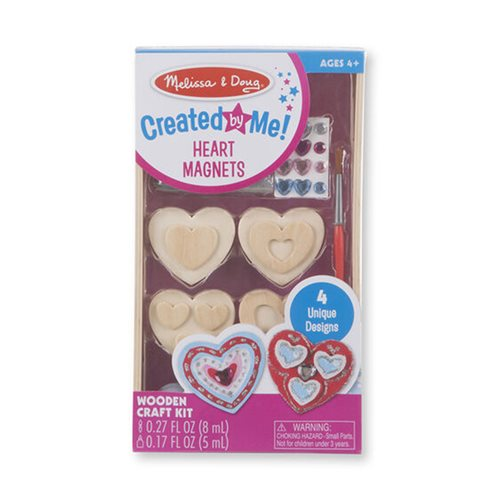 Melissa & Doug Created by Me! Heart Magnets Wooden Craft Kit